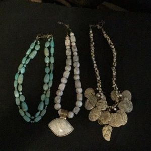 Jewelry - Beautiful stone necklaces $20 each, 2/$32 or 3/$47